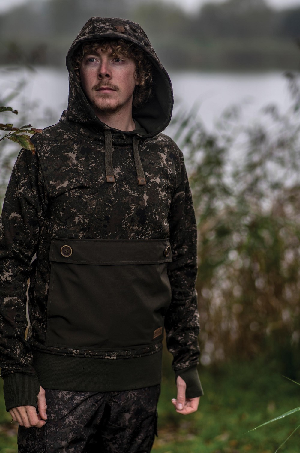 Nash ZT Subterranean Camo Hoody Carp Fishing Clothing