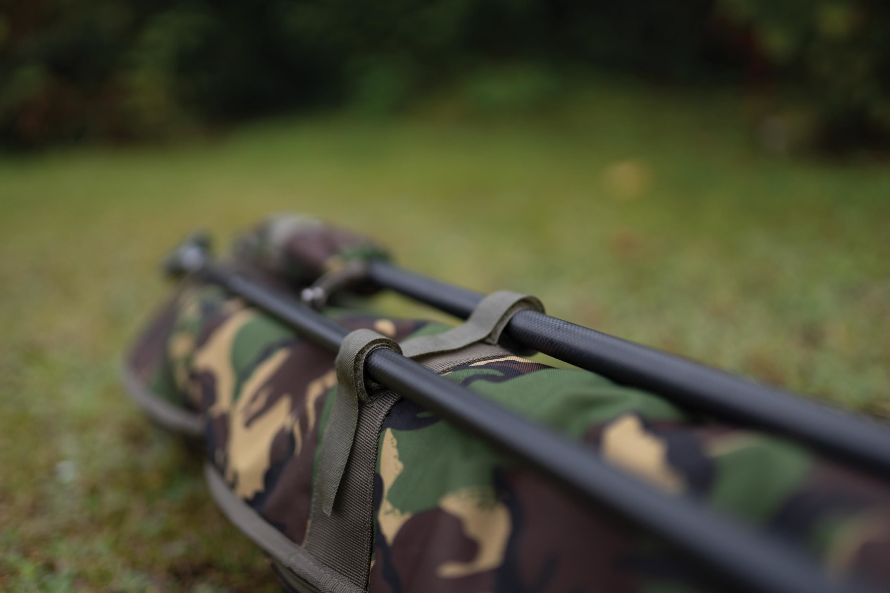 There's space on the outside for an extra rod and landing net poles