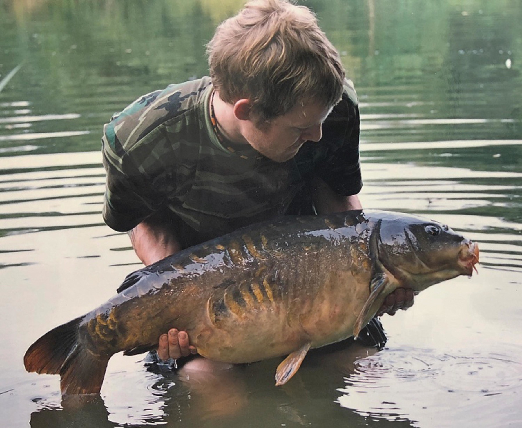 Three Up Five Down from Burghfield, landed on the original Fox Series 5 hook despite swimming between two islands into a completely different bay!