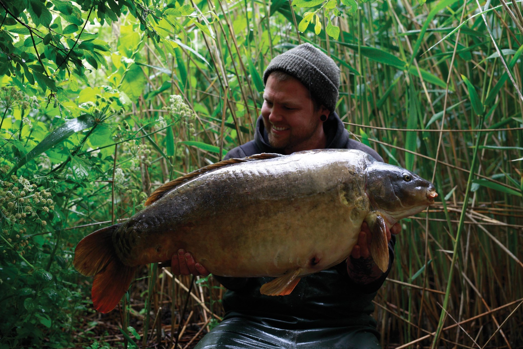 Probably previously uncaught… a 41lb unit and another victim to the size 5s for Ross