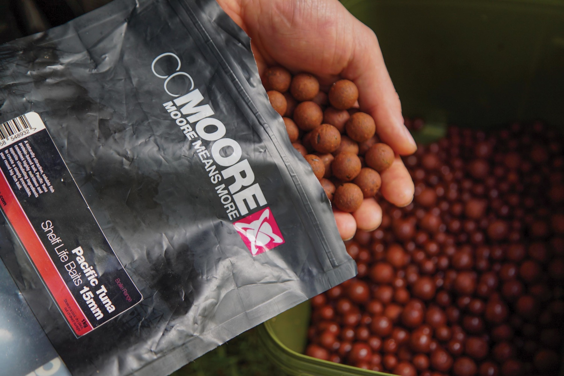 Softening up baits. Add your boilies toa bucket