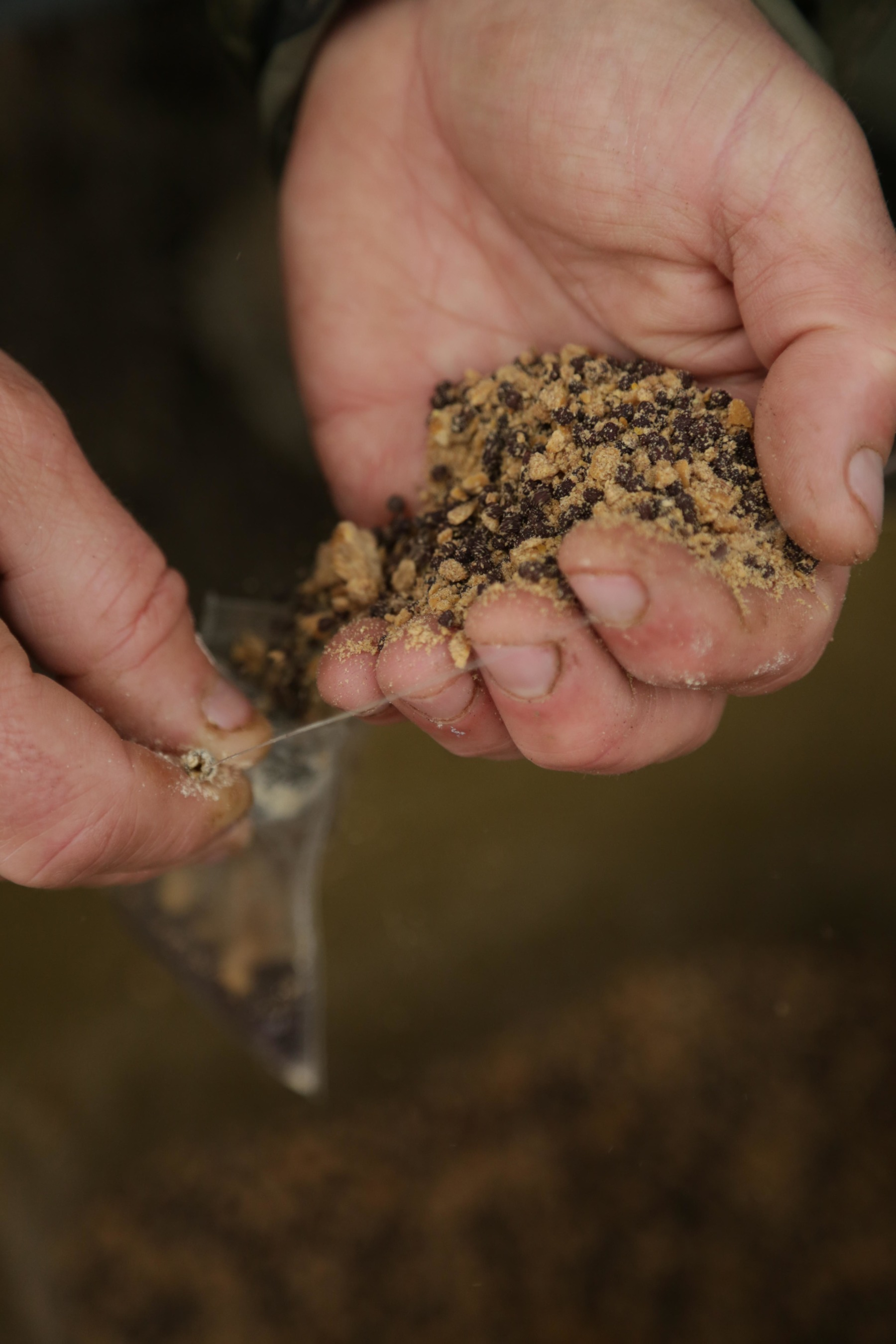 3. Then some of the Manilla and pellet mix.