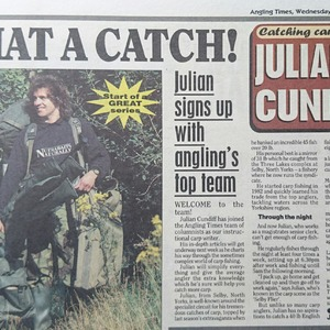 The Angling Times weekly column seemed to resonate with many
