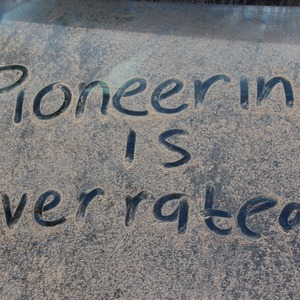 Pioneering is overrated