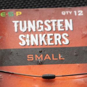 7. Add a small ESP Tungsten Sinker halfway along the hooklength.