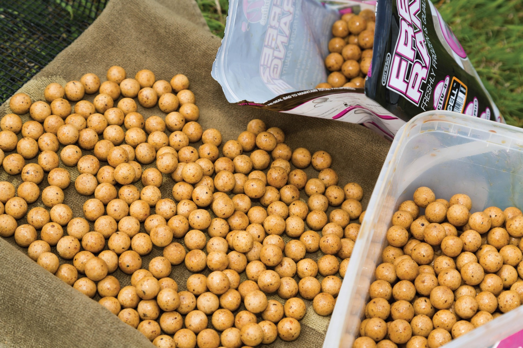 4. Dry the baits again for a couple of hours, then either refreeze or leave in the bucket ready to use!
