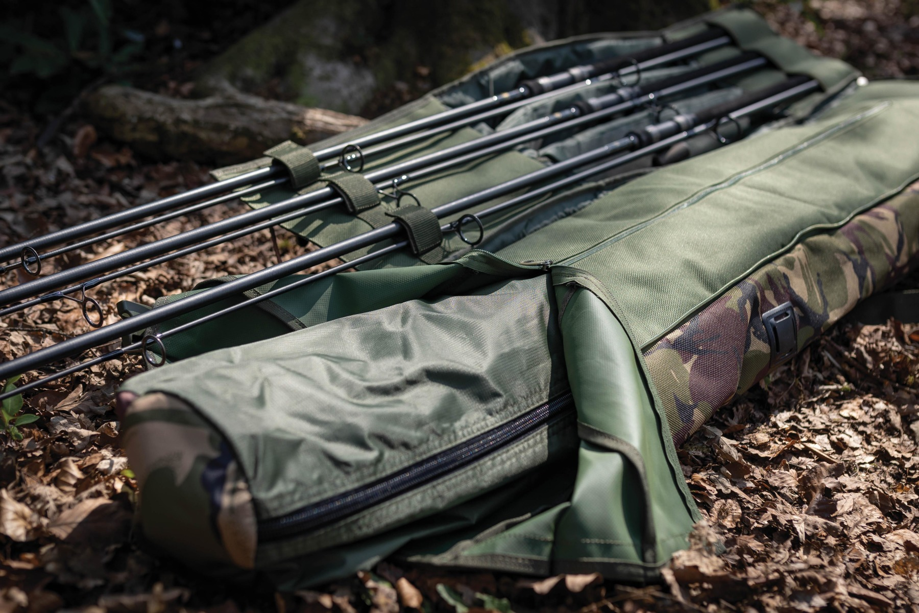 The roll-top design secures the main compartment, and will house everything from a shelter to nets and slings