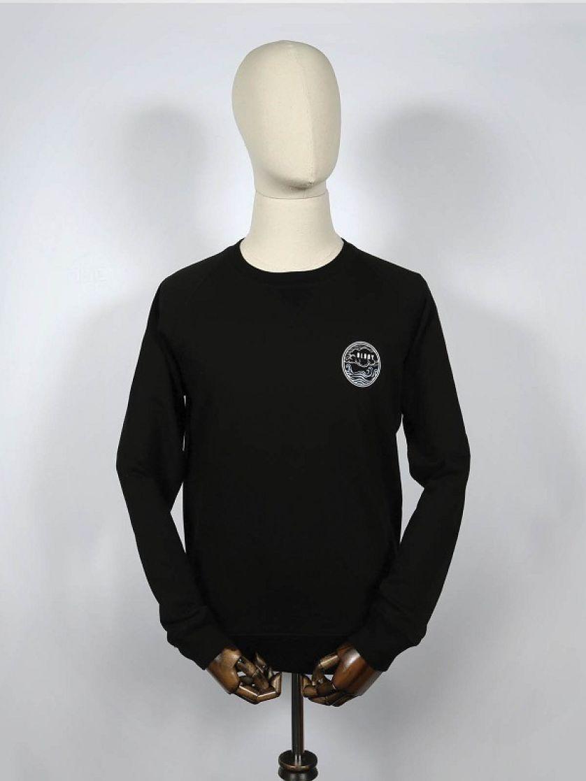 Waves Black Sweatshirt