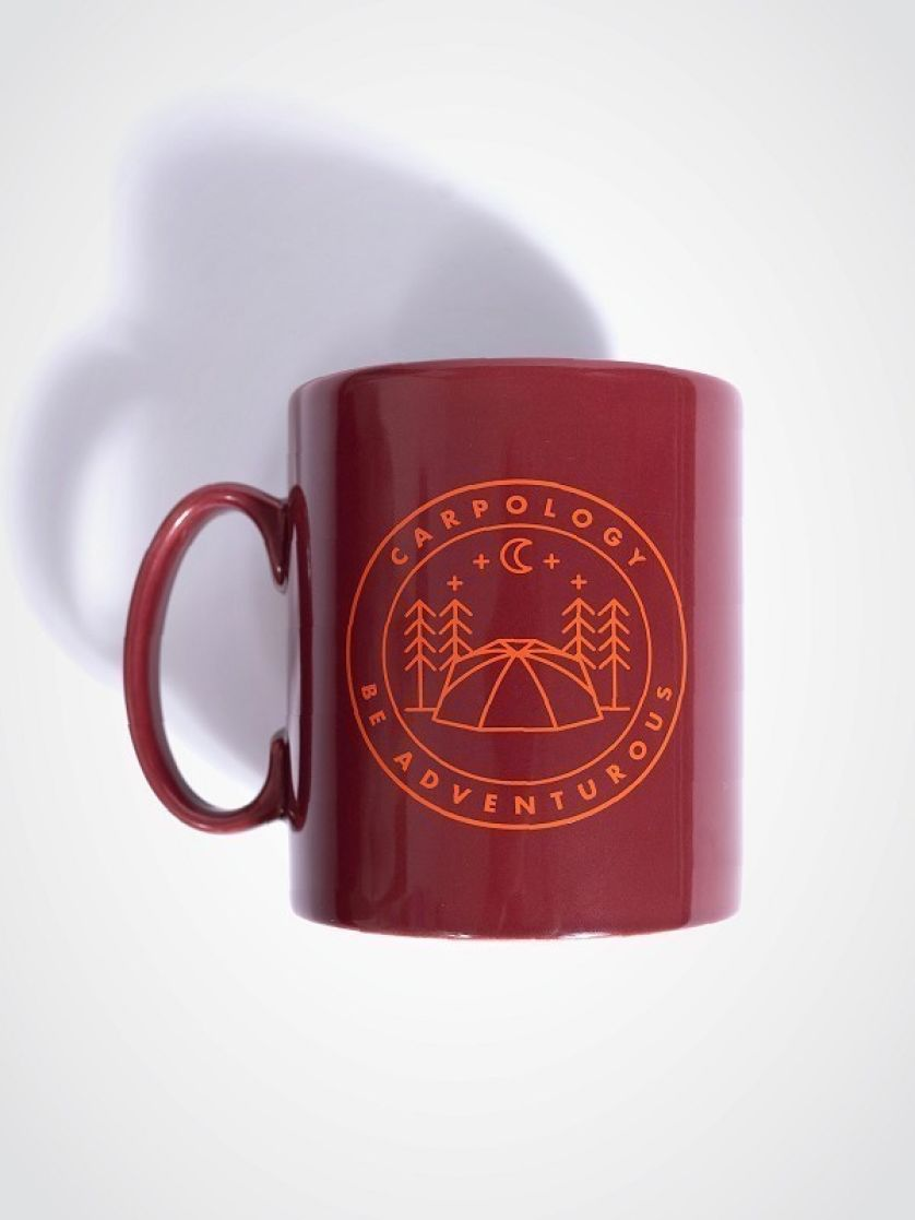 CARPology Be Adventurous Burgundy Mug
