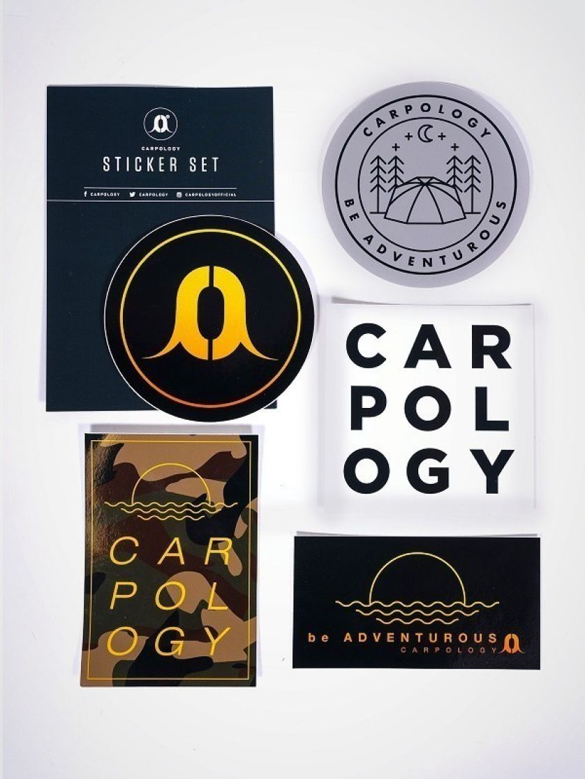 CARPology Be Adventurous Large Sticker Pack