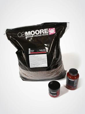 CC Moore Pacific Tuna Pack: 10kg boilies, 1 x Hot Chorizo Liquid, 1 x 15mm Wafters